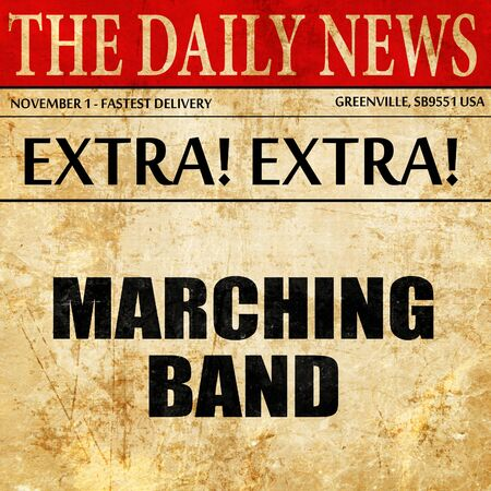 marching band, article text in newspaper