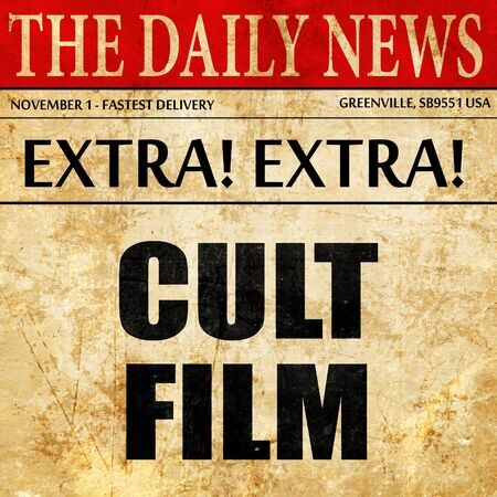 cult: cult film, article text in newspaper