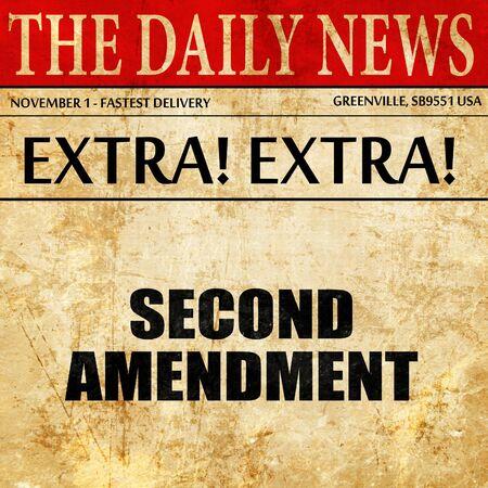 amendment: second amendment, article text in newspaper