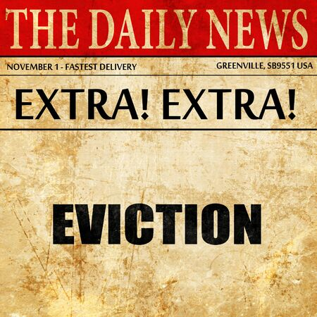 eviction: eviction, article text in newspaper