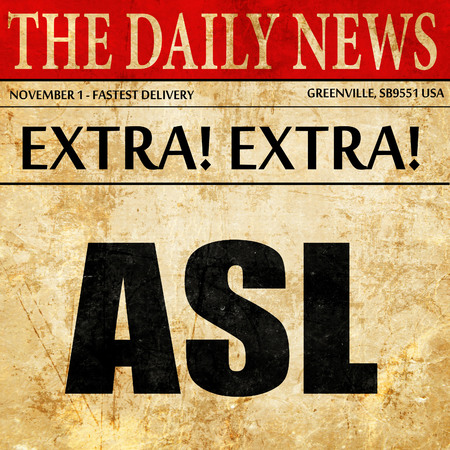 asl: asl, article text in newspaper