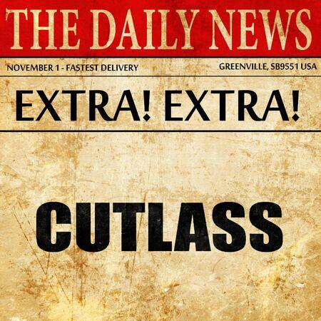 cutlass: cutlass, article text in newspaper