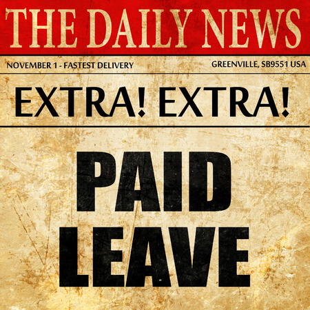 paid leave, article text in newspaper