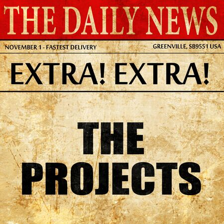 low income housing: the projects, article text in newspaper