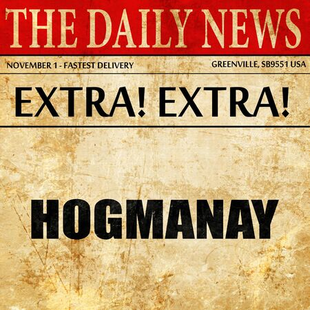hogmanay: hogmanay, article text in newspaper