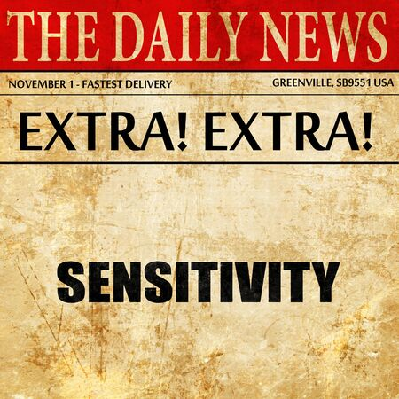 sensitivity: sensitivity, article text in newspaper