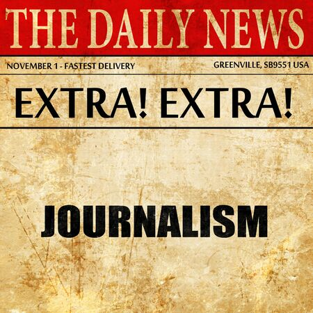 journalism: journalism, article text in newspaper Stock Photo