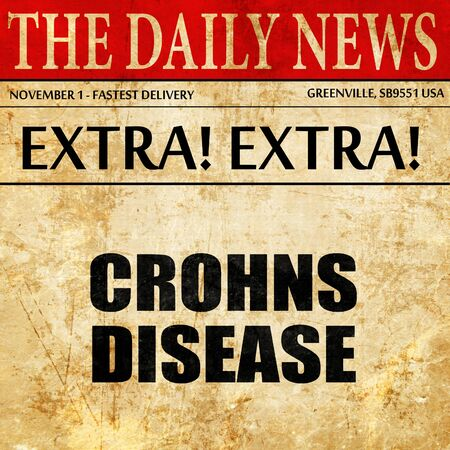 crohns disease, article text in newspaper Stock Photo