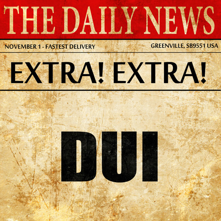 dui: dui, article text in newspaper