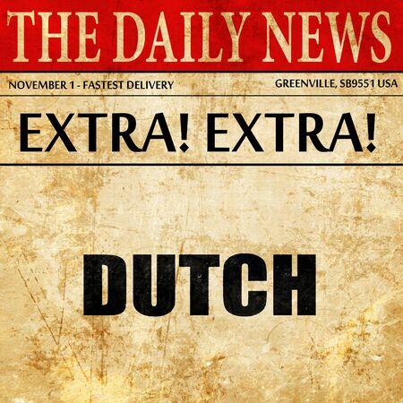 dutch: dutch, article text in newspaper