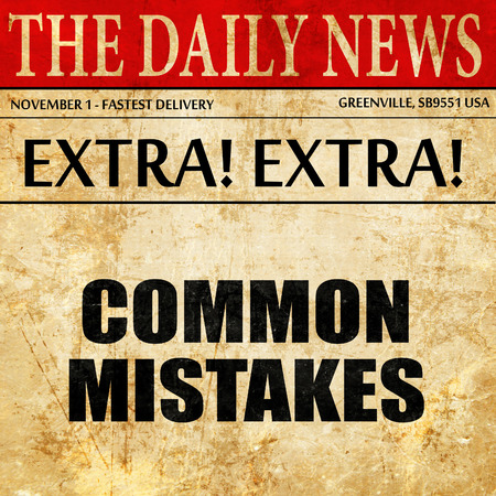 common mistakes, article text in newspaper