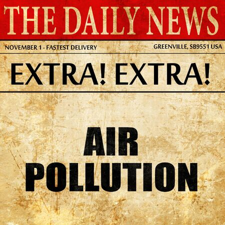 steam mouth: air pollution, article text in newspaper Stock Photo