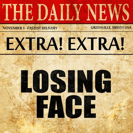 disgrace: losing face, article text in newspaper