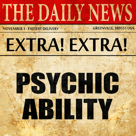 psiquico: psychic ability, article text in newspaper