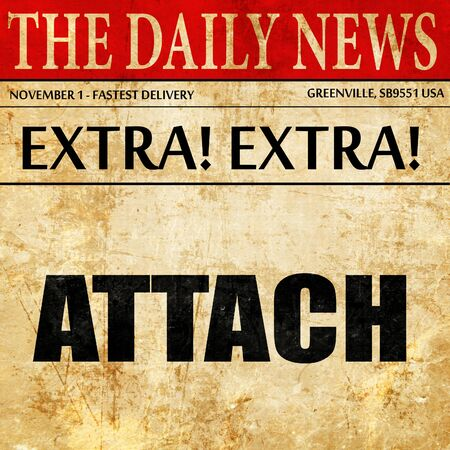 attach, article text in newspaper