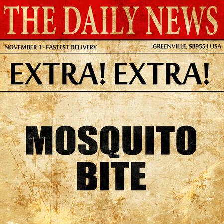 irritate: mosquito bite, article text in newspaper Stock Photo