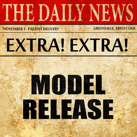 model release: model release, article text in newspaper