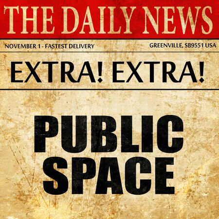 public space: public space, article text in newspaper Stock Photo
