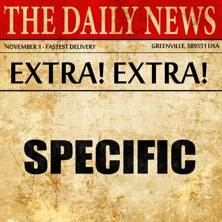 specific: specific, article text in newspaper