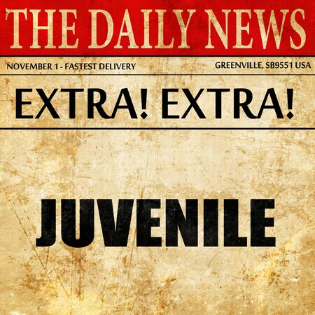 juvenile delinquent: juvenile, article text in newspaper