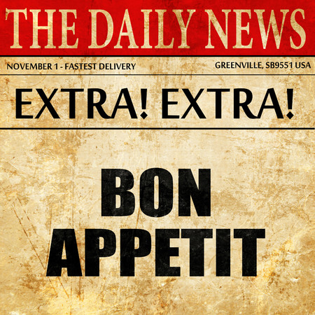 bon appetit, article text in newspaper