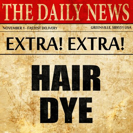 tinte cabello: hair dye, article text in newspaper