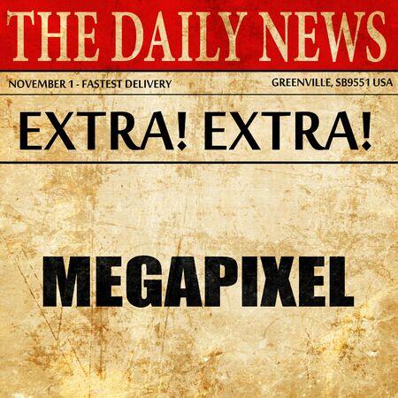 megapixel: megapixel, article text in newspaper