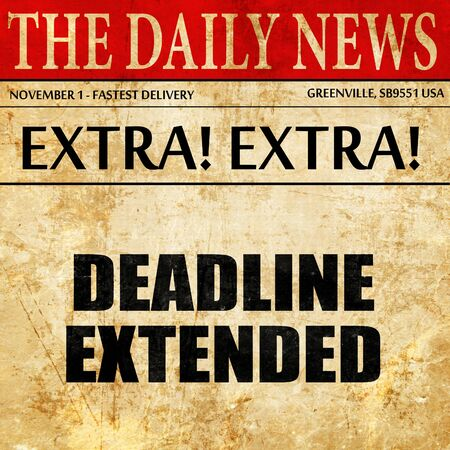 dissertation: deadline extended, article text in newspaper