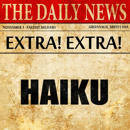 haiku: haiku, article text in newspaper