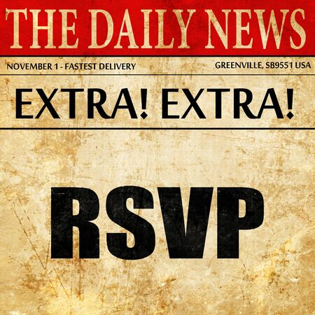 rsvp: rsvp, article text in newspaper