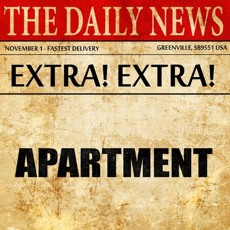 appartment: appartment, article text in newspaper Stock Photo