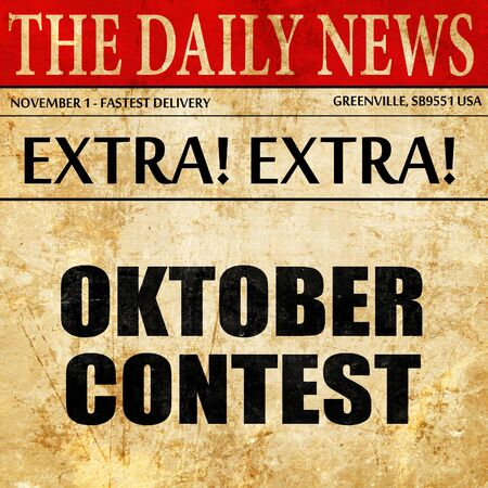 oktober: oktober contest, article text in newspaper Stock Photo