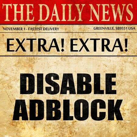 interstitial: disable adblock, article text in newspaper