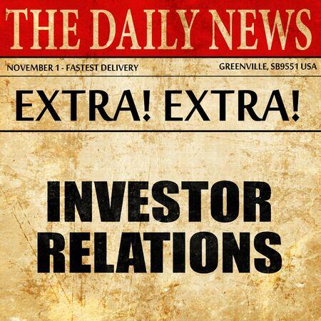 株主・投資家、新聞記事のテキスト