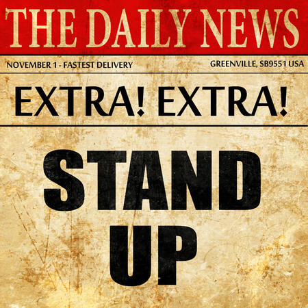 taking charge: stand up, article text in newspaper