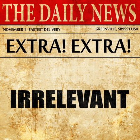 irrelevant: irrelevant, article text in newspaper
