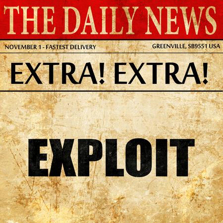 exploit: Exploit, article text in newspaper