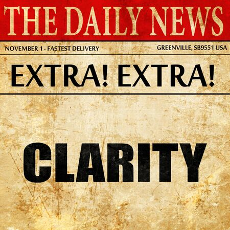clarity: clarity, article text in newspaper