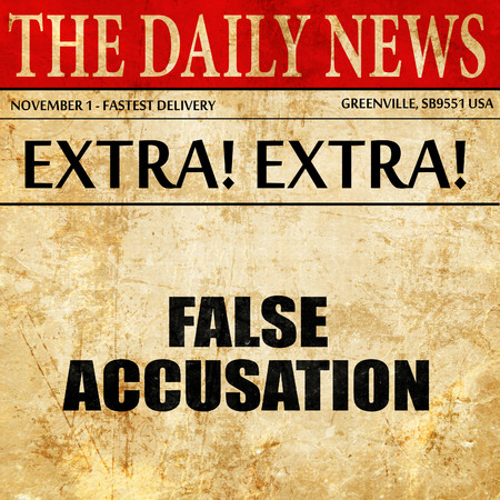 bogus: false accusation, article text in newspaper