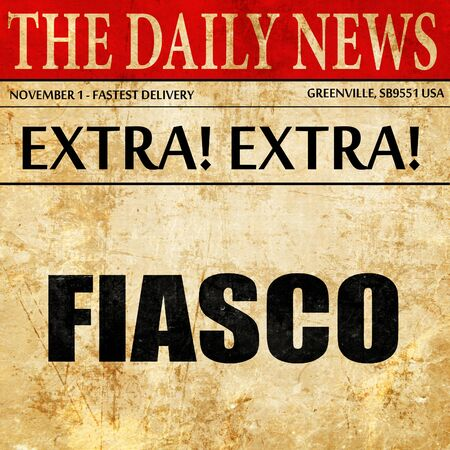 fiasco, article text in newspaper Imagens