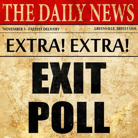 poll: exit poll, article text in newspaper