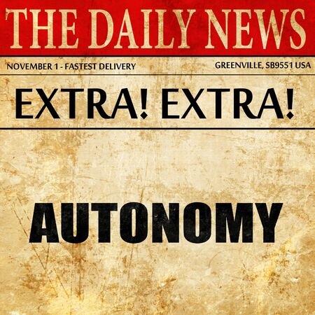 autonomia: autonomy, article text in newspaper