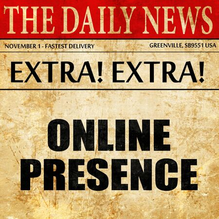 online presence, article text in newspaper