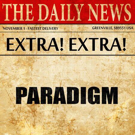 paradigm: paradigm, article text in newspaper