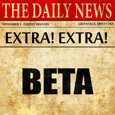 beta: beta, article text in newspaper