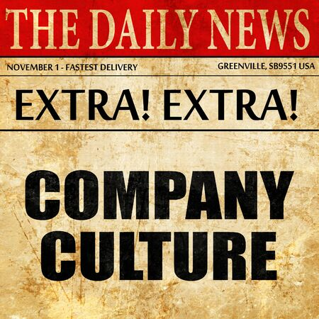 company culture, article text in newspaper