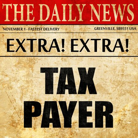 payer: tax payer, article text in newspaper