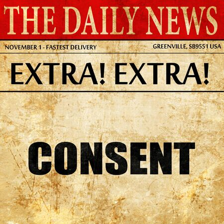 consent: consent, article text in newspaper