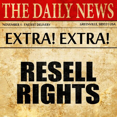resell: resell rights, article text in newspaper