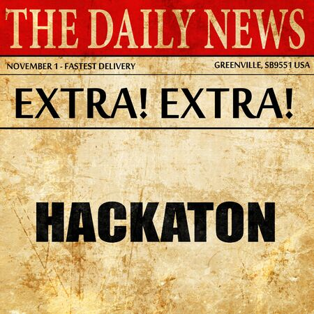 punishable: hackaton, article text in newspaper